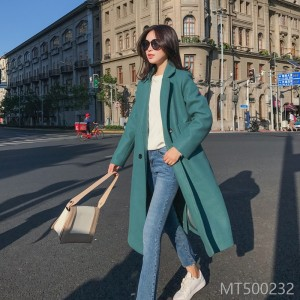 New woolen jacket mid-long style in autumn and winter of 2018