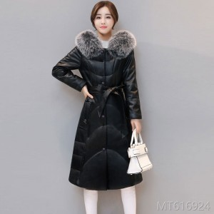 2009 fur jacket winter down cotton jacket medium and long style
