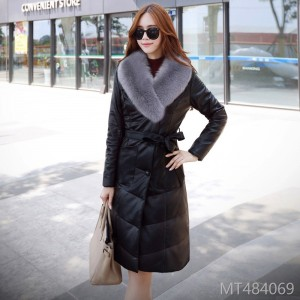 New Winter Clothes, Long and Medium-length Women's PU Leather Coat and Cotton Coat