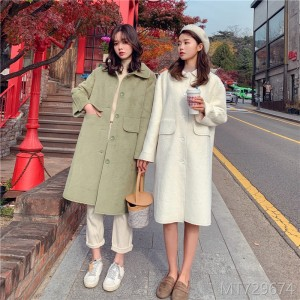 Fall and Winter 2019 New Mid-long Wool Coat Fur