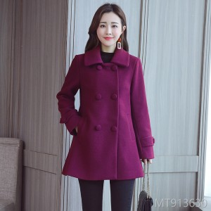 Fall and Winter Wool Suit, Female Mid-long Cloak, Loose Wool Suede