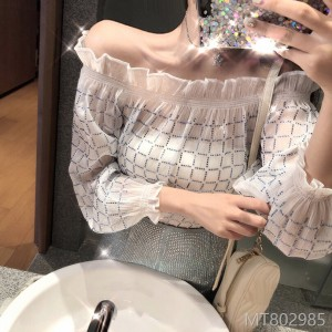2009 sexy Shoulder-exposed woman summer leak two shoulders a word collar flashing jacket