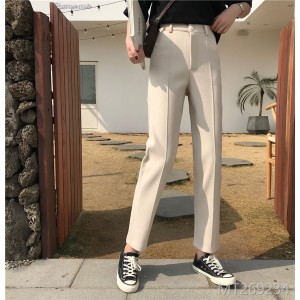 2009 Leisure Pants Female New Hong Kong Style Retro Student High Waist Strange Female Wool Pants