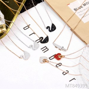 2009 Korean Titanium Steel Necklace Jewelry Female Rose Gold Clavicle Chain