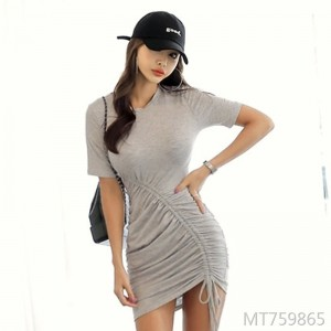 2009 New Women's Dresses Summer Female Korean Edition Sexy Clothes Short Sleeve Skirt