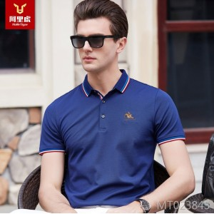 Summer 2019 Men's Short Sleeve T-shirt New Light Business Polo Short Sleeve T-shirt