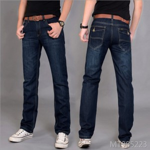 Korean version work clothes workers decorate straight cylinder explosive men's jeans