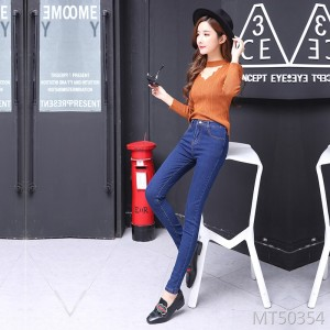 2009 Fashion Nine-point Pencil Slim Sexy Baitao Night Club Hole Women's Jeans