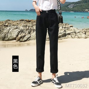 Korean version of the new jeans women's new fashion leisure loose show tall and thin