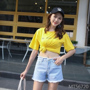 2009 Summer Fashion Cool Ultra Short Sexy Bottom Bottom Ribbon Night Club Women's Wear Hole Jeans