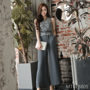 New sexy sleeveless lace high waist pants and wide legs in 2019