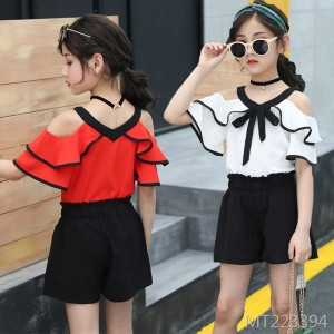 2009 New Korean Edition Chao Children Summer Girl Chiffon Fashion Two-piece Set