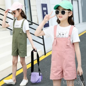 2019 New Fashion Girls'Westernized Belt Pants for Chinese and American Children