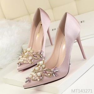 Europe and America sexy elegant banquet women's shoes high-heeled shoes