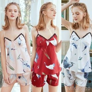 New summer nightdress strap shorts two-piece suit