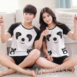 Summer short-sleeved milk silk couple pajamas thin section casual suit