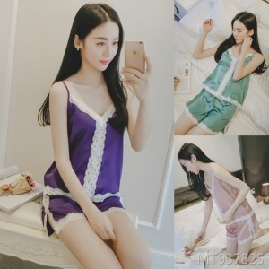 Summer lace pajamas sexy female summer two-piece suit