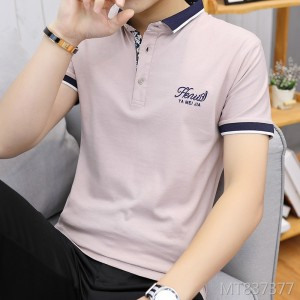 2019 spring and summer new casual men's short-sleeved youth men's T-shirt
