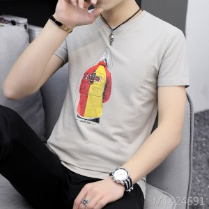 2019 spring new round neck personality men's t-shirt