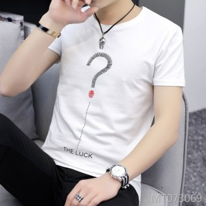 2019 new summer Japanese men's short-sleeved round neck T-shirt