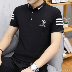 2019 new spring and summer short-sleeved collar T-shirt