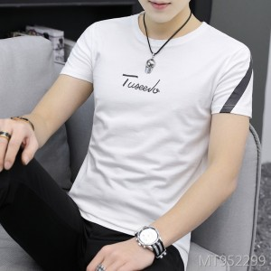 2019 new trend slim business short-sleeved t-shirt