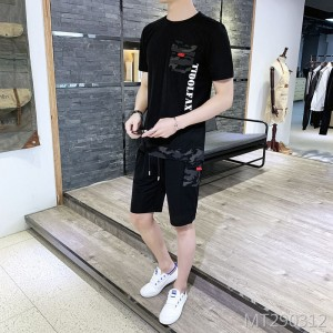 2019 new summer casual t-shirt set