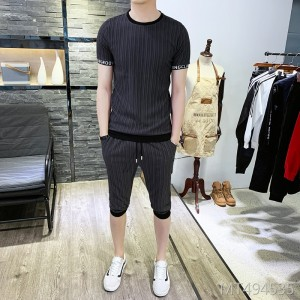2019 hot new short-sleeved T-shirt shorts suit