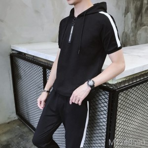 2019 spring and summer new men's casual short-sleeved suit