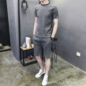 2019 new men's casual suit Korean sports suit