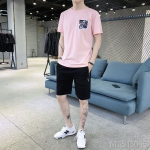 2019 summer new cotton short-sleeved T-shirt suit