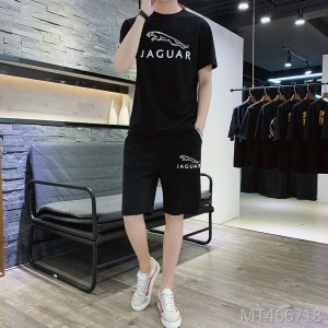2019 summer new short suit men's short-sleeved t-shirt casual suit