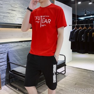 2019 new summer round neck sports suit