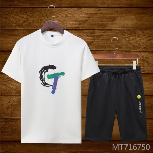 2019 summer new men's sports and leisure T-shirt short-sleeved suit