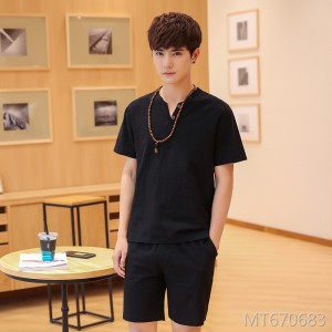 2019 new T-shirt men's casual suit