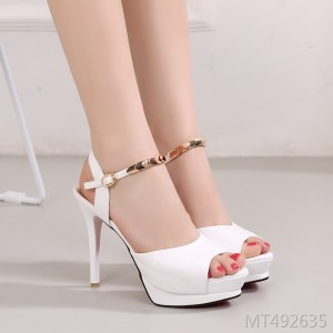 2019 Europe and the United States summer new sandals high heels