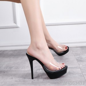 2019 new stiletto black fitting shoes high-heeled shoes