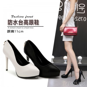 2019 new ultra high heel single shoes stiletto pointed high heels