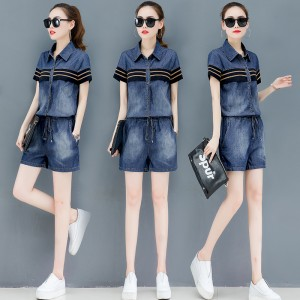 2019 new female summer dress Korean denim jumpsuit