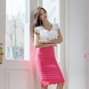 2019 new Korean version of the top + skirt two-piece suit