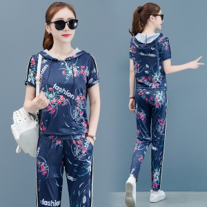 2019 summer new casual women's two-piece suit