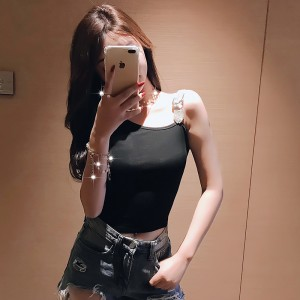 2019 new sexy slim diamond nightclub slim short-sleeved t-shirt