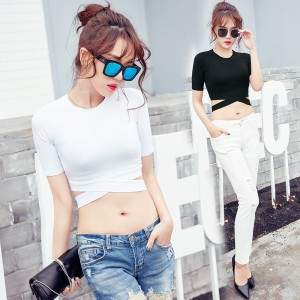 2019 new sexy slim short-sleeved personality t-shirt