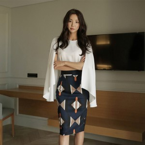 2019 new Korean version of the top + slim bag hip two-piece