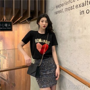 2019 new round neck ins fashion casual t-shirt