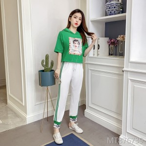 2019 new summer Korean fashion casual two-piece suit