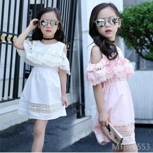 2019 children's summer dress strapless dress