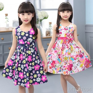 2019 new summer Korean girls dress