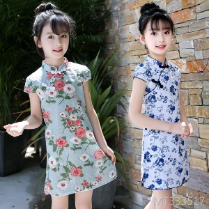 2019 summer new girls short-sleeved dress