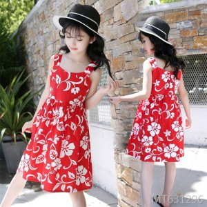2019 new Korean flower casual dress